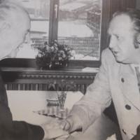 Anton Weilmaier zusammen mit Prof. Wilhelm Hoegner (Minsterpräsident in Bayern 1945 und von 1954-1957)